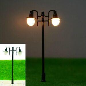 S226-10-Stueck-Lampen-Strassenlampen-2-flammig-5-5cm-nostalgisch-Parkleuchten