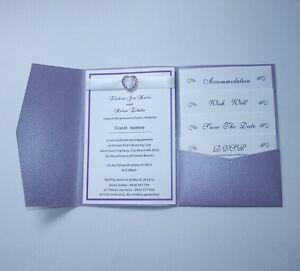 Pearl Purple Pocketfold Wedding