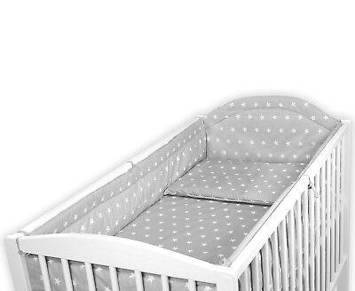 Oreiller//Couette Case 3 pc rose//gris étoiles bébé Ensemble de literie lit bébé-lit bébé inc pare-chocs