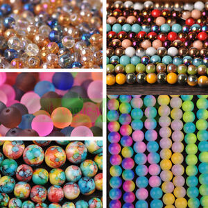Wholesale-Charms-Round-Crystal-Glass-Loose-Beads-4mm-6mm-8mm-10mm-12mm-Making