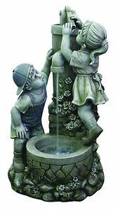 Fontana con bimbi in resina da giardino ebay - Statue da giardino in resina ...