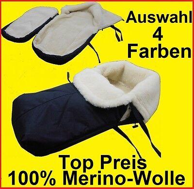 Schlitten Fußsack Fußsack  Lammwolle MERINOWOLLE  4 Farben Kinderwagen Buggy