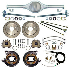 CURRIE 82-86 JEEP CJ REAR END,CJ5,CJ7 & DRILLED DISC BRAKES,LINES,E-CABLES,AXLES