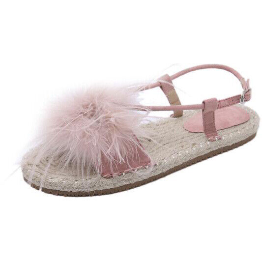 Sandals elegant low comfortable pink rope slippers like leather Elegant CW850