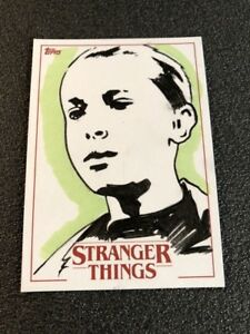 2018 Topps Stranger Things Sketch Card of Eleven 1/1 Artist Michelle Rayner