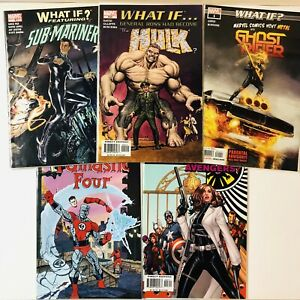 What-If-NM-Marvel-Comic-Lot-Set-Run-Fantastic-Four-Sub-Mariner-Ghost-Rider-Hulk