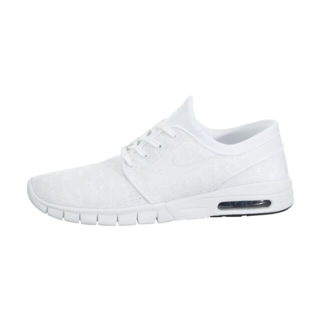 aec53601c7df Nike Stefan Janoski Max Mens White Textile Athletic Lace up Skate ...
