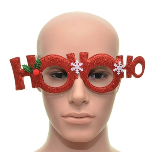 Hoo-Ho Red Christmas Glasses Specs Frame Fancy Dress Sunglasses Party Accessory