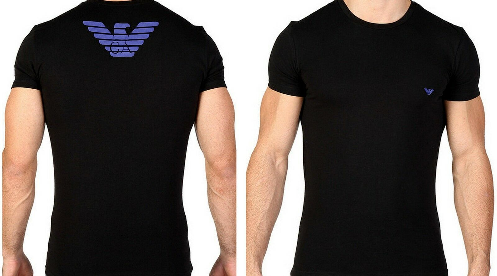 T-Shirt emporio armani Rundhalsausschnitt Mann Männer T-Shirt logo groß Adler