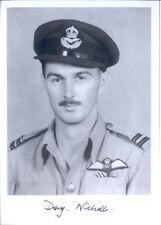 SPBB35 WWII WW2 RAF Battle of Britain Hurricane pilot NICHOLLS DFC signed photo