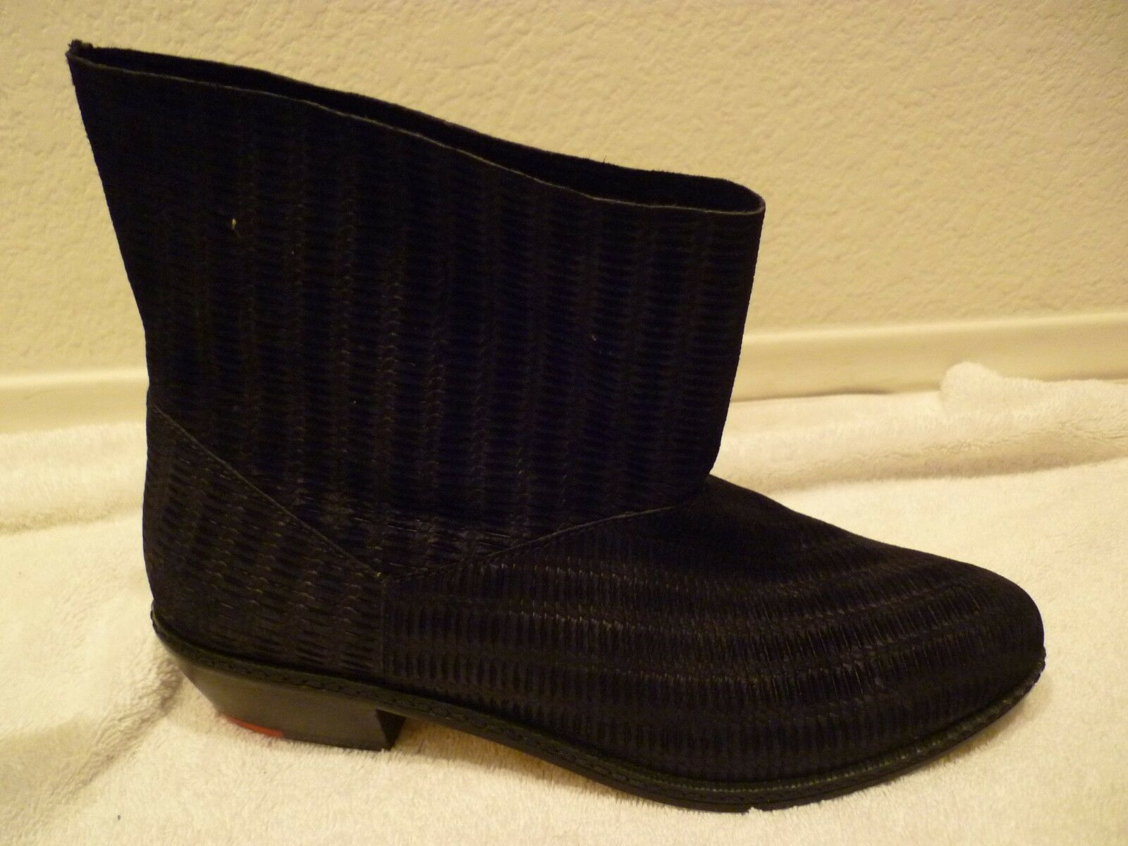 JOE's Jeans schwarz ankle Leder boot SZ 8.5-new/rtn
