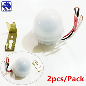 2pcs DC/AC 12V 10A Light Sensor Automatic Day-Night Switch Street ...