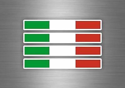 4x Autocollant sticker voiture moto italie italien drapeau tuning auto italia