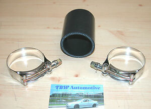 Silikonschlauch-64-mm-Schwarz-inkl-HD-Schellen-NEU-Verbinder-LLK-Turbo-2-5-034