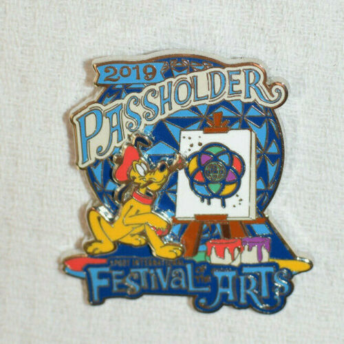 Disney EPCOT 2019 Festival Of The Arts PLUTO Annual Passholder Logo Pin NEW