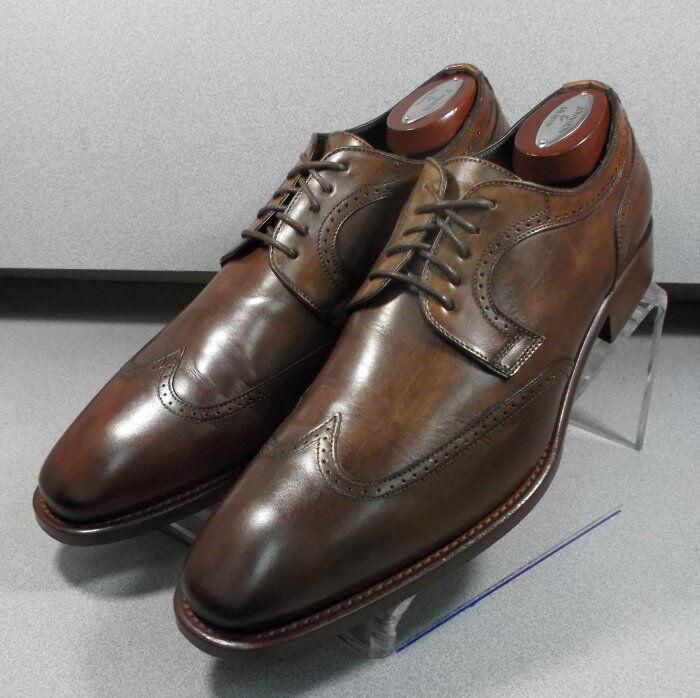 242604 PFi60 para hombres zapatos M de cuero marrón Hecha en Italia Johnston Murphy