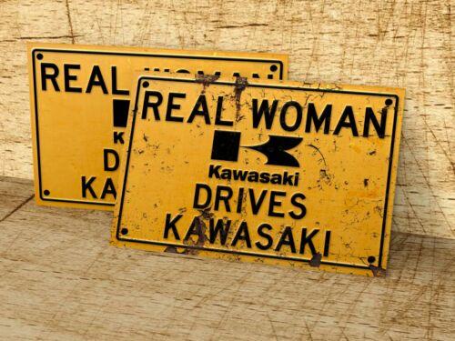 man cave home Real Woman Drives Kawasaki sign for garage