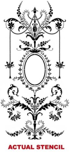 LARGE Detailed French Decor Marie Antoinette Grand Panel Wall Stencil