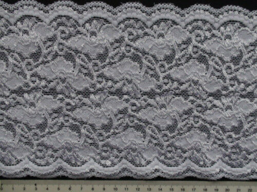 NEW STRETCH LACE WHITE colour 5 metres x 152 mm SLS170