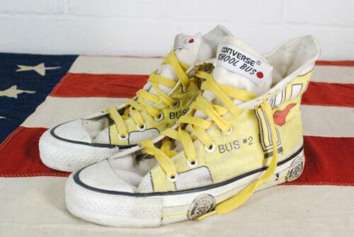 Vintage Converse School Bus USA High Top Shoes Yel