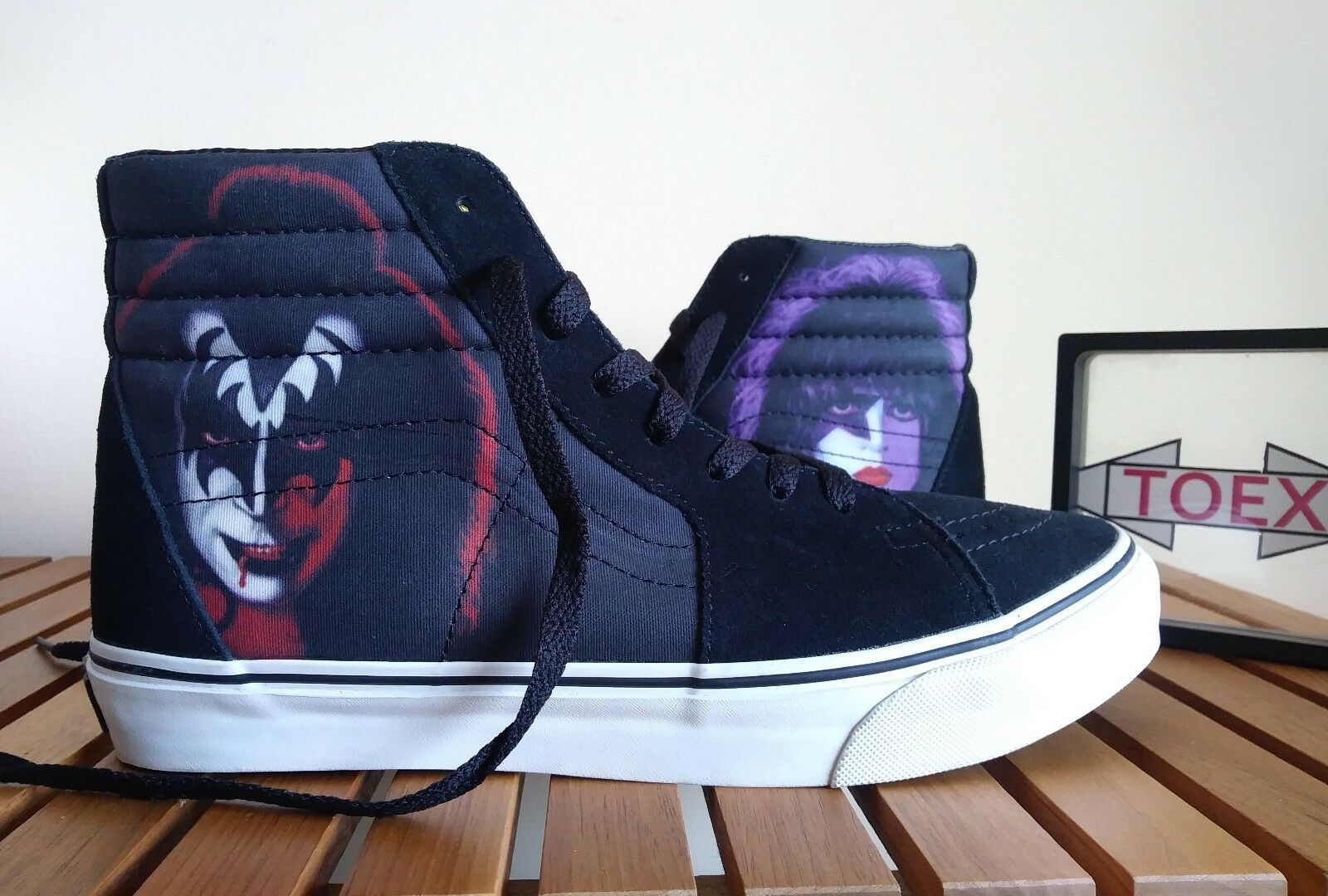 Vans sk8-hi rare 2008 THE KISS TOUR LIMITED (iron maiden Metallica) syndicate