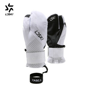 Snowboard-Gloves-professional-PU-Strong-Palm-wrist-protective-warm-ski-mittens