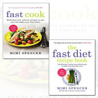 Mimi Spencer 2 Books Collection Set Pack Fast Cook,The Fast Diet Recipe Book NEW
