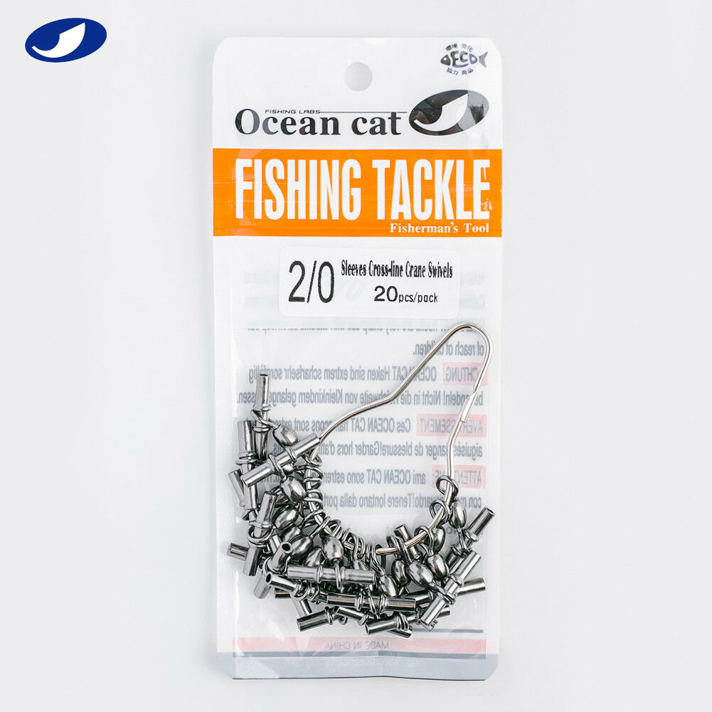 40-100 Pcs Fishing Japan Sleeves Cross-line Crane Swivel 3 Way T-Shape