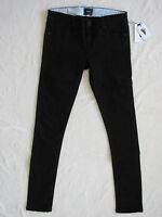 Burton Lorimer Slim Jeggings Stretch Tapered Jeans- True Black-size 25 -nwt $65