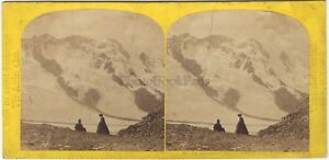 Suisse-Le-Breithorn-Alpes-Photo-W-England-Stereo-Vintage-Albumine-ca-1860