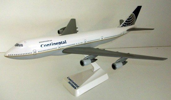 PLASTIC MODEL KIT 27CM - CON43 BOEING 747 - CONTINENTAL