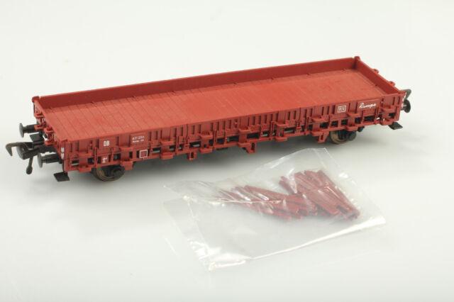 H0 Fleischmann 5221 Niederbordwagen mit Rungen Top DB 431256 OVP-Mängel/Kratzer