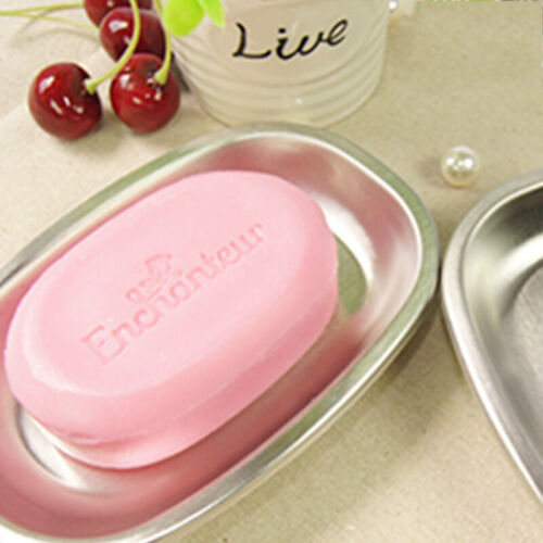Soap Dish Stainless Steel Premium Soap Tray Kitchen and Bathroom Double Layers