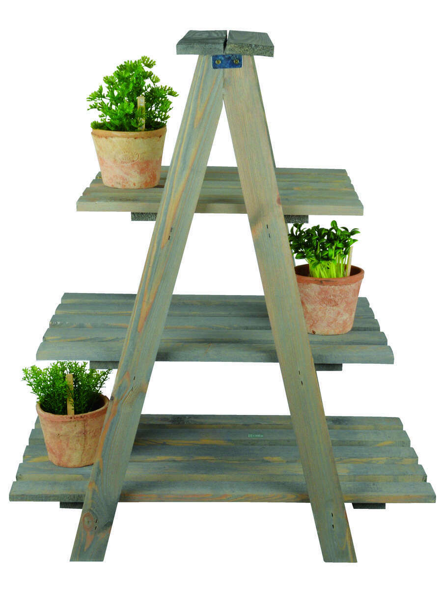 Planter to Scale Vertical Wood Pine for flowers and plants portavasi bavicch