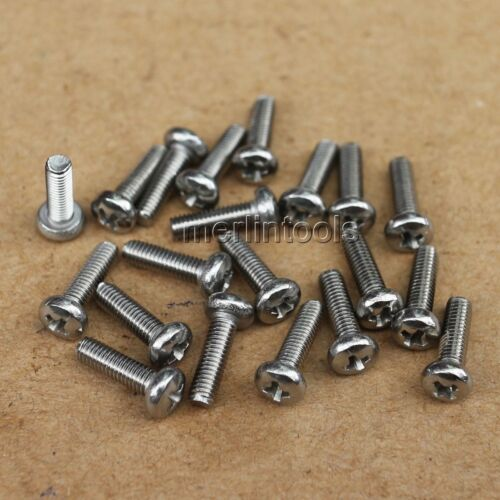 New 50pcs M3 x 0.5pitch x 10 mm stainless steel cross head screw