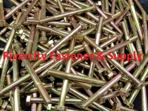 10 Bolts 8mm x 100mm Grade 8 M8-1.25x100 mm Hex Head Cap Screws 10.9