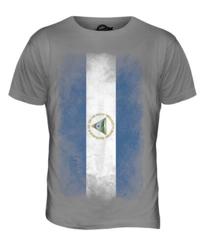 NICARAGUA FADED FLAG MENS T-SHIRT TEE TOP NICARAGUAN SHIRT FOOTBALL JERSEY GIFT
