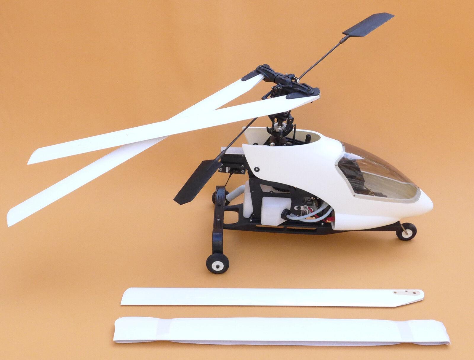 Elicottero a scoppio gasoline rc helicopter radiocomandato mai usato never used
