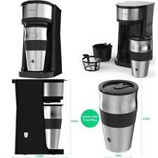 Vremi Single Cup Coffee Maker With Travel Mug And Reusable Filter