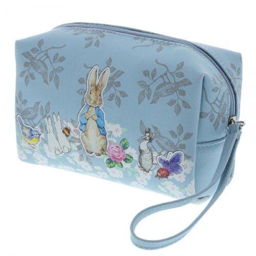 Officiel Beatrix Potter Peter Rabbit Blue Maquillage Lavage Sac Cosmétique Style Vintage