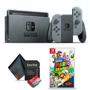 Nintendo Switch Gaming Console Bundle with Super Mario 3D World + Bowser's Fury