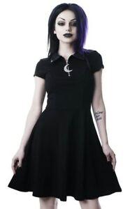 ecdfdba67467 Killstar Gothic Goth Witchy Coven Cutie Skater Mini Dress Crescent ...