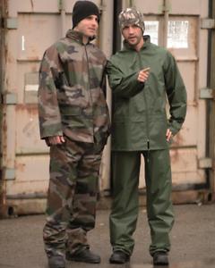 Regenanzug oliv S-4XL Regenjacke Regenhose Regenkombi Nässeschutz