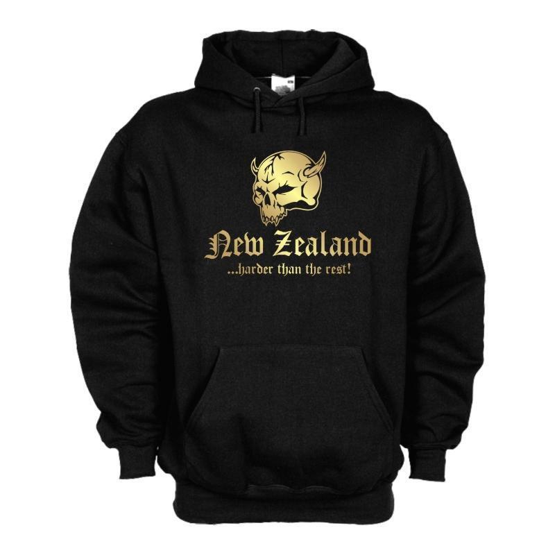 Kapuzenpulli NEUSEELAND (New Zealand) harder than the rest, Hoodie (WMS05-40d)