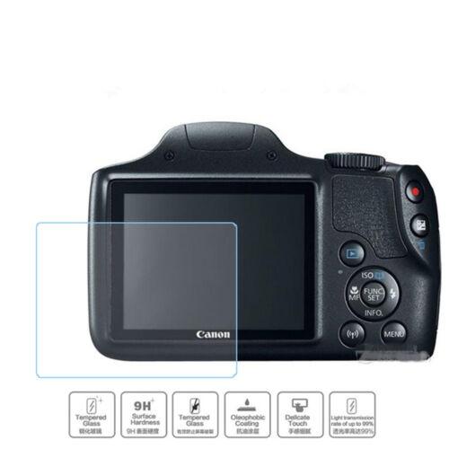2PC Cámara Premium Vidrio Templado Film Protector de pantalla para Canon SX540 HS