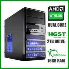 Gaming Computer Desktop PC Tower 3.9GHz Turbo 2TB Hard Drive 16GB RAM