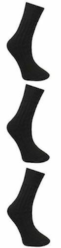 Para hombres Mezcla de lana no elástico suelta prenda Diabetic Socks Lote Acolchada Suela Talla 6-11