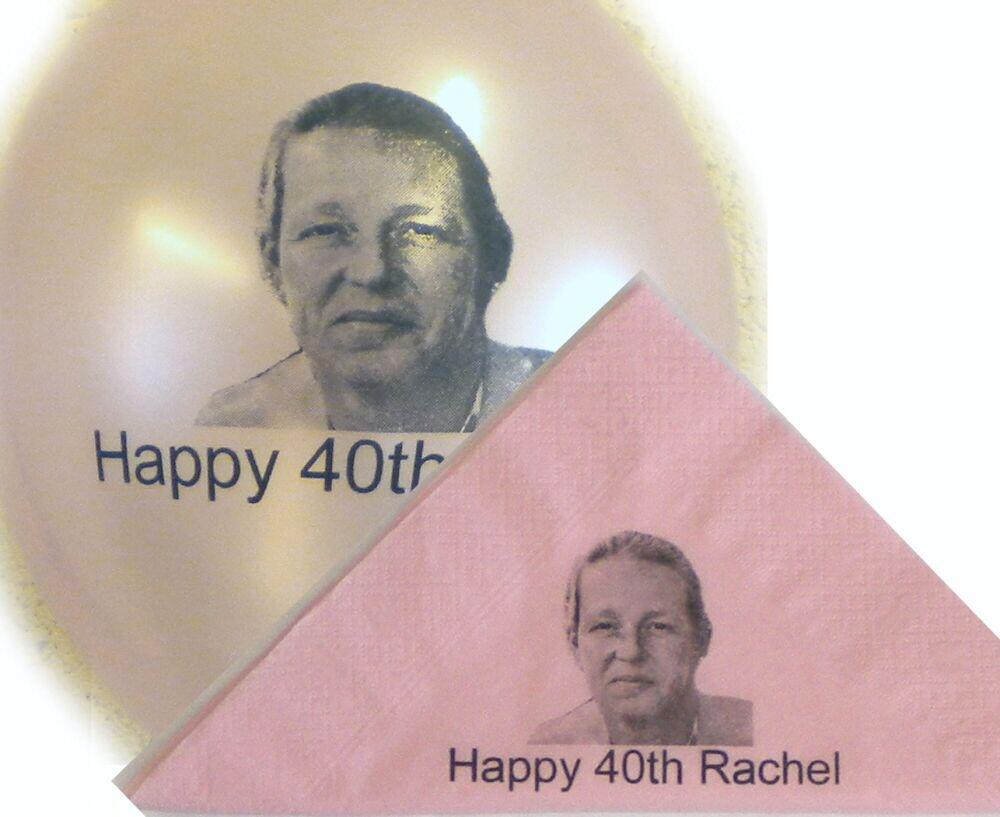 50 Personnalisée Photo Serviettes en Papier 40cm 3 Plis Anniversaire Couleurs