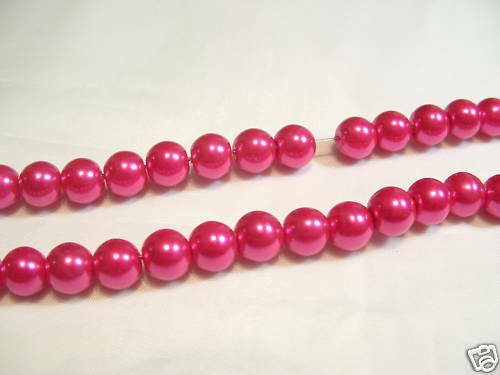 #82C Cerise pcs x Glass Pearl 4mm Round Beads 210