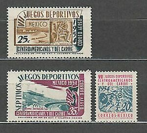 Mexico - Mail 1954 Yvert 645 + A 184/5 MNH Sports